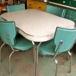 vintage 1950s formica and chrome table misc