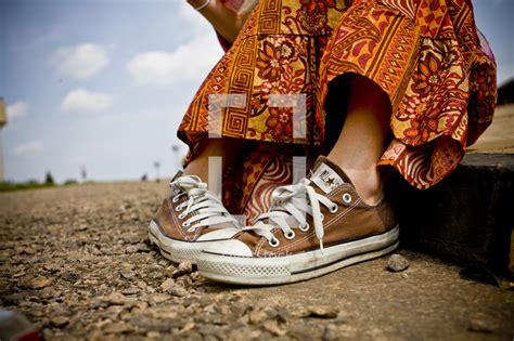 girls shoes  uganda photo lightstock