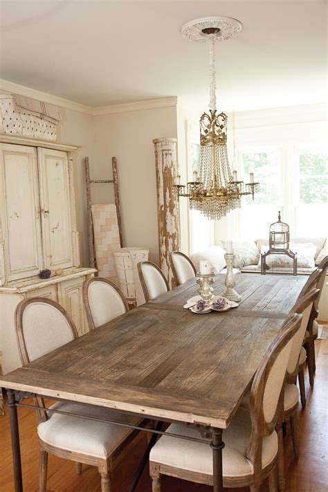 vintage cottage chic dining room  country french