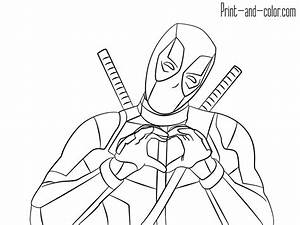 deadpool coloring pages print and colorcom With wiring assembly2
