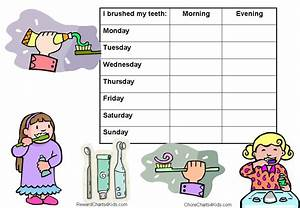 Monthly Tooth Brushing Chart Reward Charts For Healthy Teeth