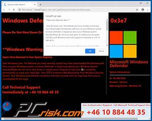 How To Remove Windows Defender Alert  0x3e7  Pop