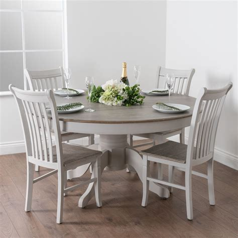 shabby chic country dove grey white wooden large