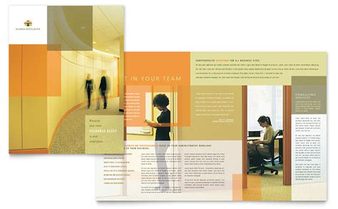 hr consulting brochure template word publisher