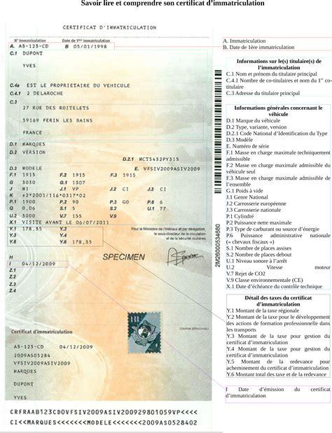 immatriculation siv ex carte grise démarches