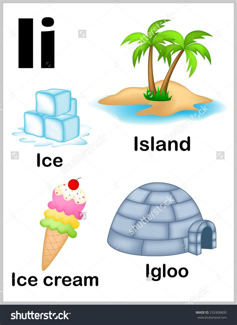 i letter words letter word clipart clipground