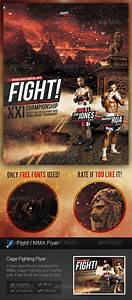 cage fighting mma flyer by stormdesigns graphicriver With ufc poster template