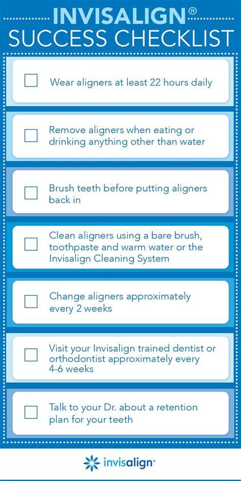 daily invisalign checklist  hoffman dental care