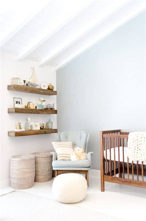 nursery floating shelves home makeover liam s sweet serene nursery conrad 1118