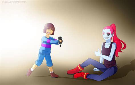 Frisk And Undyne By Tokiko220 On Deviantart