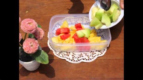 edisi   membuat salad buah dapur ala ala youtube