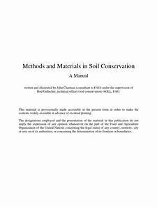 Methods And Materials In Soil Conservation
