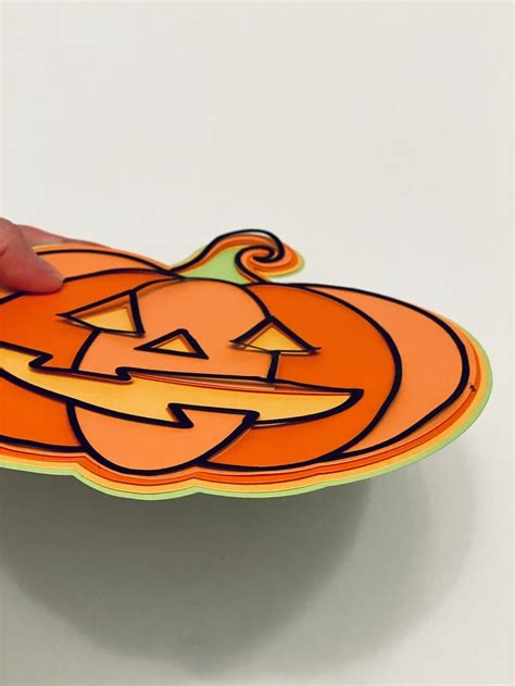If you are a member already, you can download the free svg in resource library. Halloween Pumpkin 3D Layered SVG Design