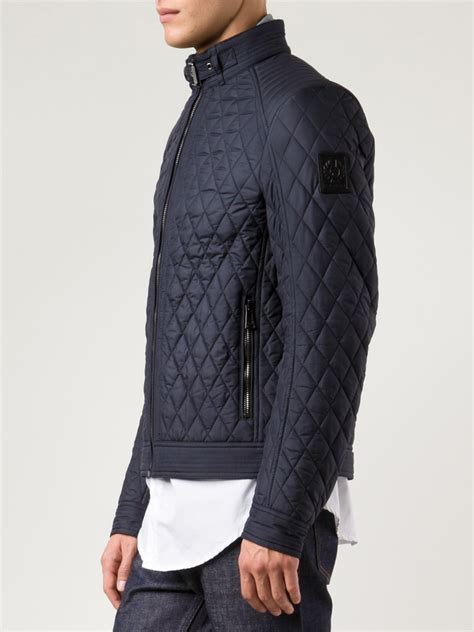 mens quilted jacket lyst belstaff quilted jacket in blue for
