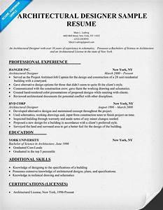 architectural designer resume sample architecture With designer resume format