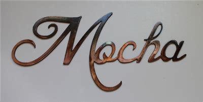 """Mocha"" Metal Coffee Word Art Decor"