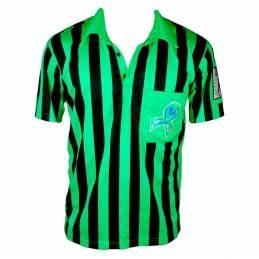 LimeGreenLacrosse Refshirt Stripes Green Black LE