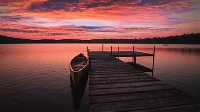 5k Sunrise Boat Moose Adirondacks Lake Dock