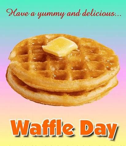 Waffle Card Yummy Delicious Waffles Ecard National