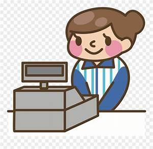 Cashier Cash Register Money Computer Animation Clipart ...