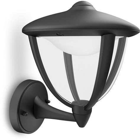 buy philips mygarden robin led wall up lantern black at