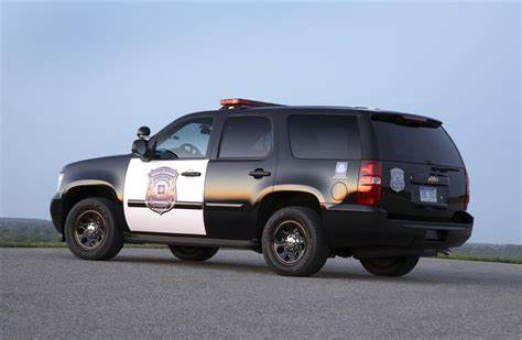 Coloured Police Offers An Additional Service 2011 chevrolet tahoe
