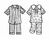 Pajamas Coloring Pajama Coloringcrew Pijama Pyjama Template Clip Preschool Dia Printable Sketch Para Colorir Activities Drawing Sheets Da Infantil Super sketch template