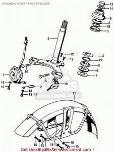 Honda Cl70 Scrambler 1970 K1 Usa Steering Stem    Front