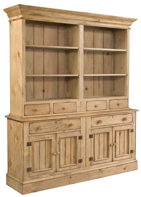 Homecoming Vintage Pine Open Buffet With Hutch From