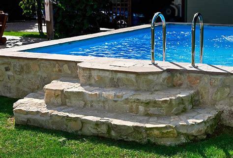 Terrasse Tiefer Als Garten by Natursteintreppe Zum Pool Gartengestaltung Mit