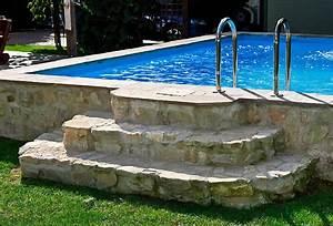 Gartengestaltung Mit Pool : natursteintreppe zum pool gartengestaltung mit ~ A.2002-acura-tl-radio.info Haus und Dekorationen