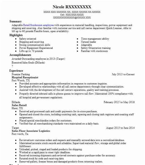 Resume For Receptionist by Hospital Receptionist Resume Sle Livecareer