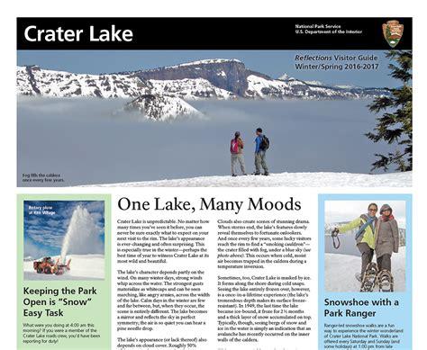 park newspaper crater lake national park  national