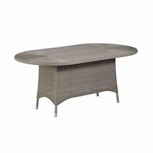 Table De Jardin Ovale : table de jardin ovale en r sine tress e brin d 39 ouest ~ Dailycaller-alerts.com Idées de Décoration