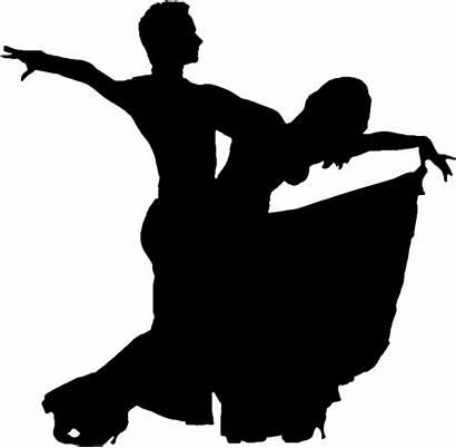 Silhouette Clipart Ballroom Dancing Dance Dancer Movement