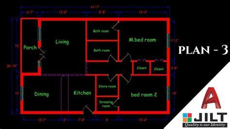 making  simple floor plan   autocad