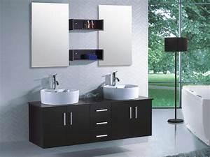 meuble de salle de bain quotrhinquot noir et marron 55620 56127 With meuble de salle de bain marron