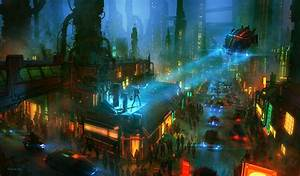 Nikolai, Lockertsen, Cyberpunk, Futuristic, Wallpapers, Hd