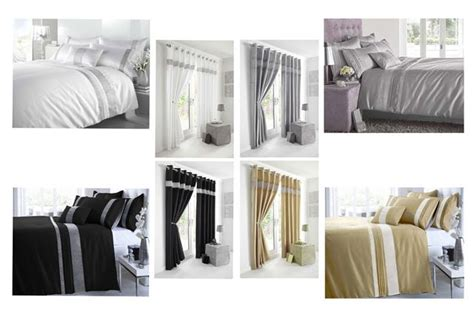 Black Silver Or White Eyelet Curtains