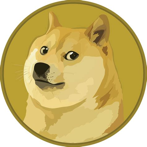 Text-free version of the Dogecoin logo : dogecoin