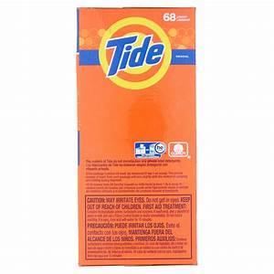 Tide HE Turbo Powder Laundry Detergent, Original Scent, 68 ...