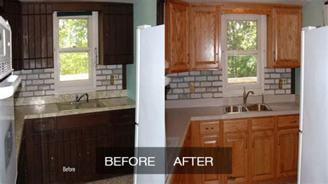 sears cabinet refacing before and after kitchen cabinet refacing before and after