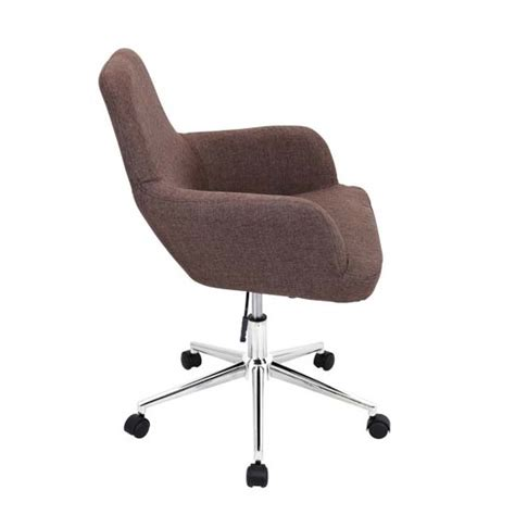 lumisource degree fabric upholstered office chair brown