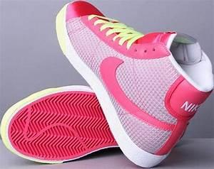 Women s Nike Blazer Aster Pink White Lime Green