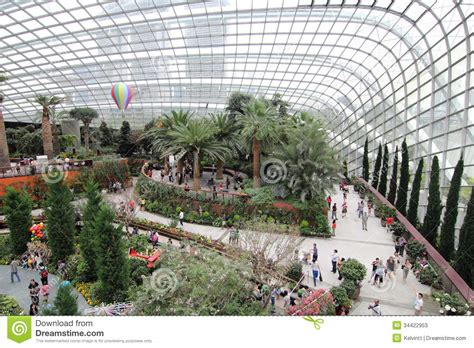 flower dome gardens by the bay 3 editorial stock photo