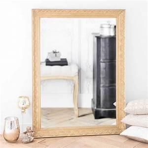 Cadre 70 X 100 : miroir en bois de paulownia dor h 120 cm valentine ~ Dailycaller-alerts.com Idées de Décoration