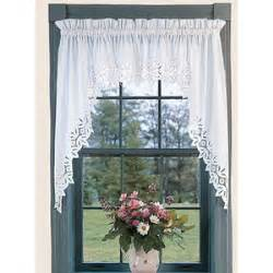 window toppers battenburg lace swag country curtains
