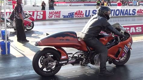 Supercharged Pro Street 7.04@210mph Motorcycle Drag Racing