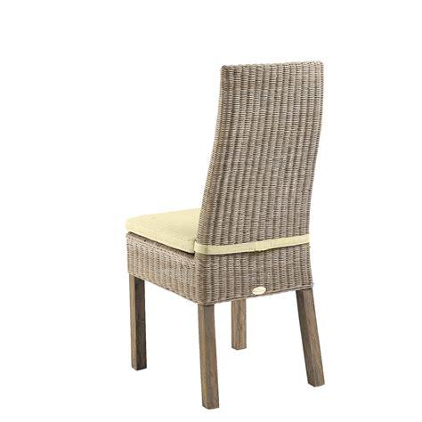 soldes lot 6 chaises en rotin beige calvi chaises de