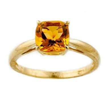ct cushion cut citrine ring   yellow gold sams club